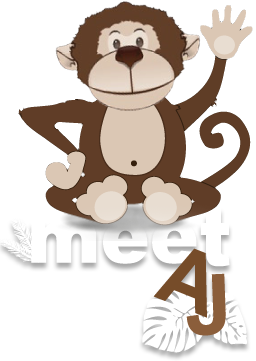 Meet AJ - Monkey Business Marketing Mascot