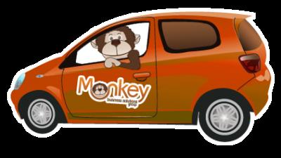 Monkey Business - AJ in a car